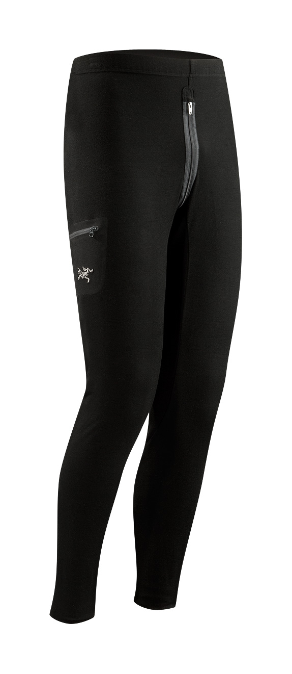 Arcteryx Black Rho LTW Bottom w/ zip